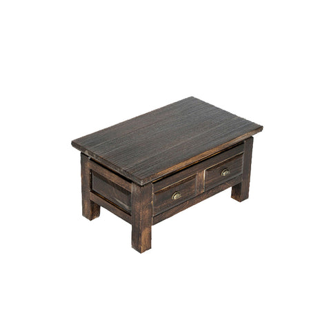 Shaotongmu solid wood bay window tatami table tea table coffee table floor square low table half table portable mobile storage tea table