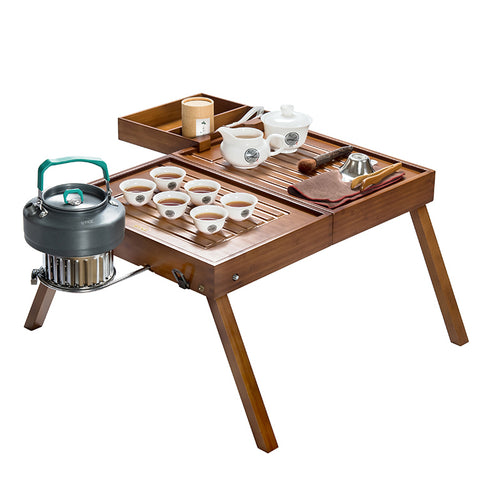 Travel portable simple mini coffee table foldable tea table storage tea solid wood tea table creative furniture leisure