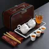 One pot of three cups One gaiwan four cups Travel tea set portable bag teapot cover bowl outdoor car travel teacup tea ware