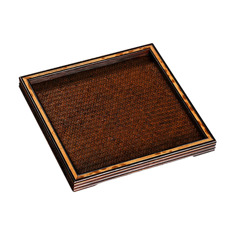 Vintage mat dry tea tray small tea tray bamboo tea tray tea pot mat