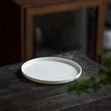 White porcelain hand-carved dry bubble tray ceramic tea tray disc Japanese style creative small tea table Kung Fu tea set