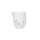 White Porcelain Hand-painted Ink Bamboo Fair Cup Handmade Ceramic Tea Sea Public Cup Tea Leak Cup Gongdaobei