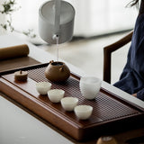 Whole Heavy Bamboo Tea Tray Bamboo Tea Table Rectangular Simple Household Drain Tea Tray