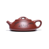 Yixing Zisha pot purple pure handmade ore paper sand flat stone pot home small teapot