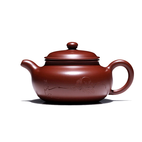 Yixing teapot pure handmade antique Dahongpao