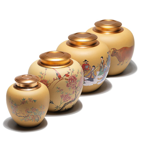 Yixing Original Ore Section Mud Pure Hand-painted Sealed Jar Large Household Tea Caddy Storage Tank Tea Cans
