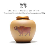 Yixing original ore section mud pure hand-painted ceramic sealed jar large household tea caddy storage tank tea cans