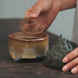 Zen-like Pottery Aoyama Incense Burner Aromatherapy Creative Interior Incense Burner Tea Ceremony Decoration