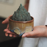 Zen-like pottery Aoyama incense burner aromatherapy creative interior incense burner incense tea ceremony decoration