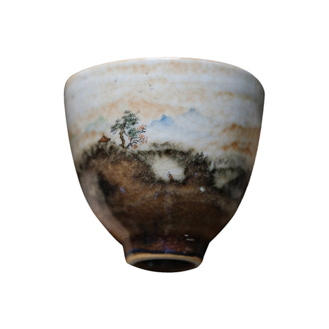 Huoshaoyun jingdezhen hand-painted master single teacup