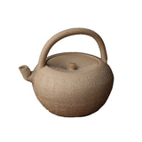 White clay kettle, hand-carved poetry, Japanese style white clay pot, charcoal stove, boiled tea pot, heart sutra pot