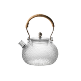 Glass Teapot Heat Resistant Teapot with Copper handle 700 ml