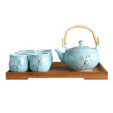 Hand-painted Jin Jingdezhen Tiliang Ceramic Teacup Teapot Tea Set