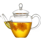 Glass Teapot Filter Glass Pot Thickened Heat-resistant Glass Flower Teapot