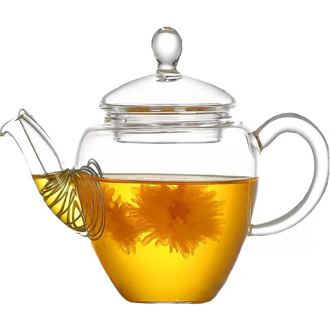 Glass teapot, teapot, filter glass tea set, teapot, thickened heat-resistant glass flower teapot