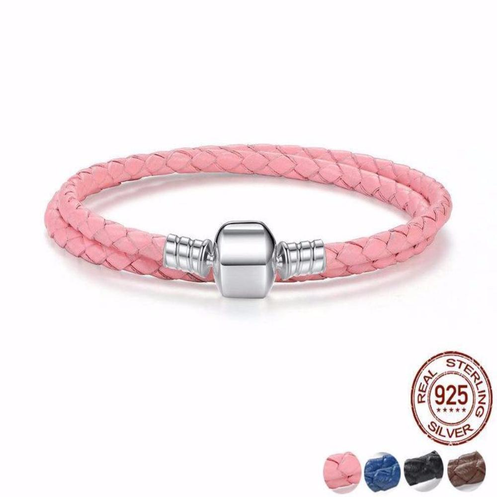 Enthralling Braided Leather Bracelet