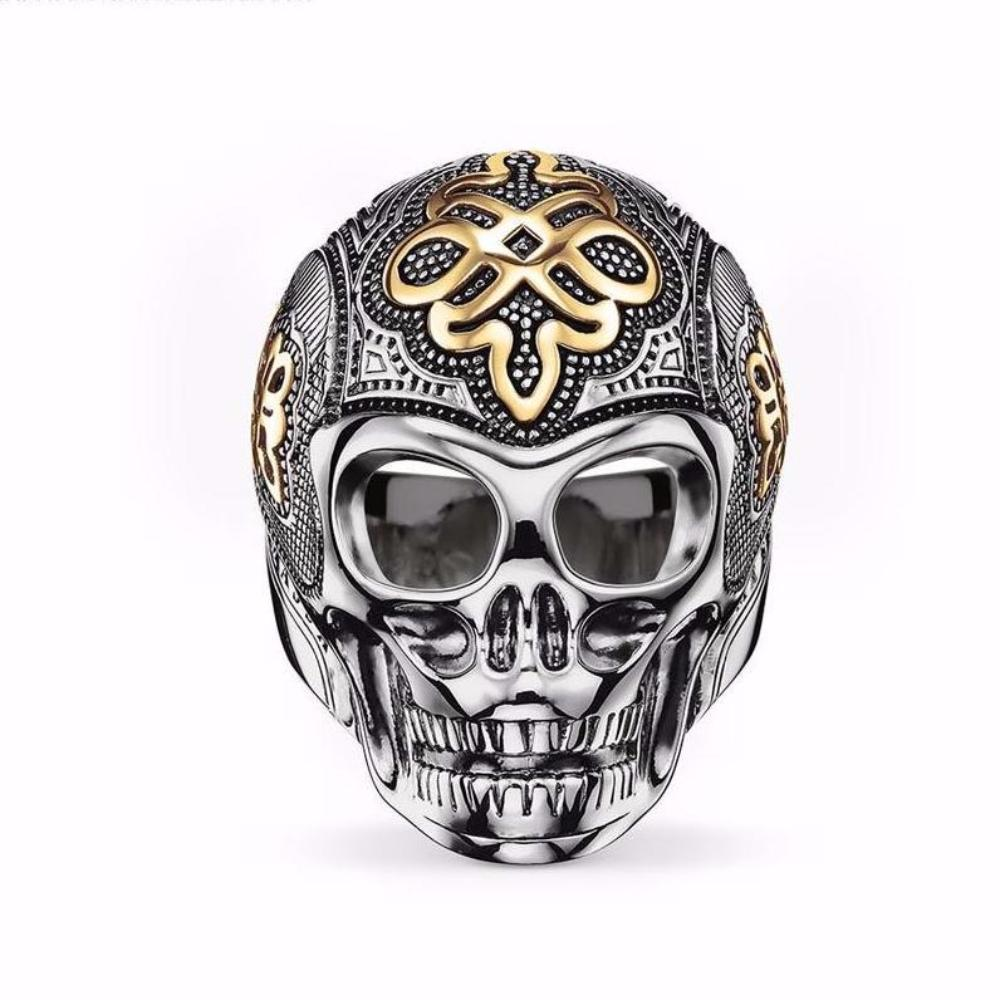 Luscious Skull Silver Ring