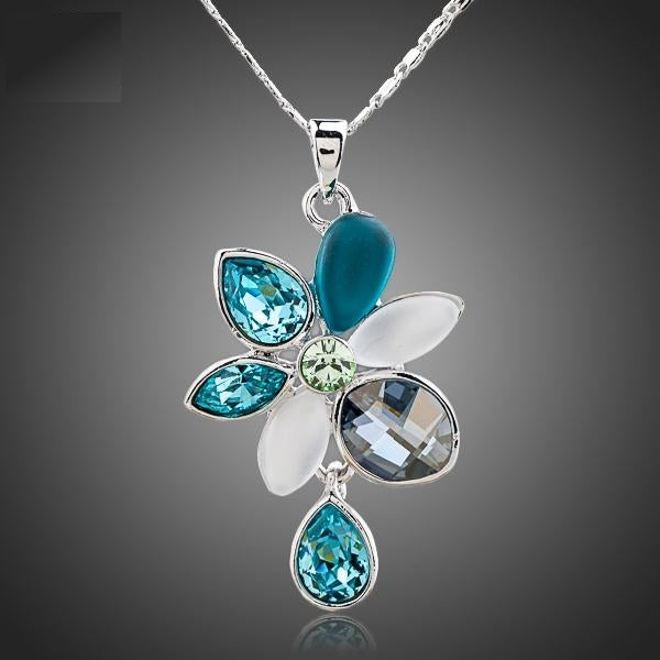 All The Luck Multi-color Crystal Flower Necklace