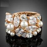 Classic Multi-shape CZ Pearls Ring