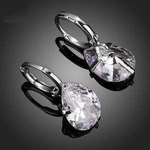 Classic Clear CZ Water Drop Earrings