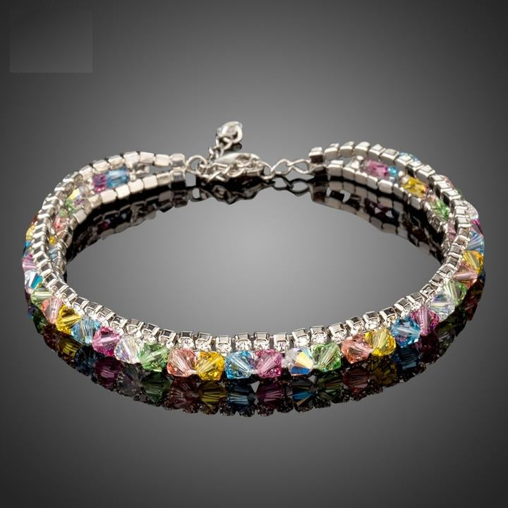 Charming Colorful Crystals Fashion Bracelets