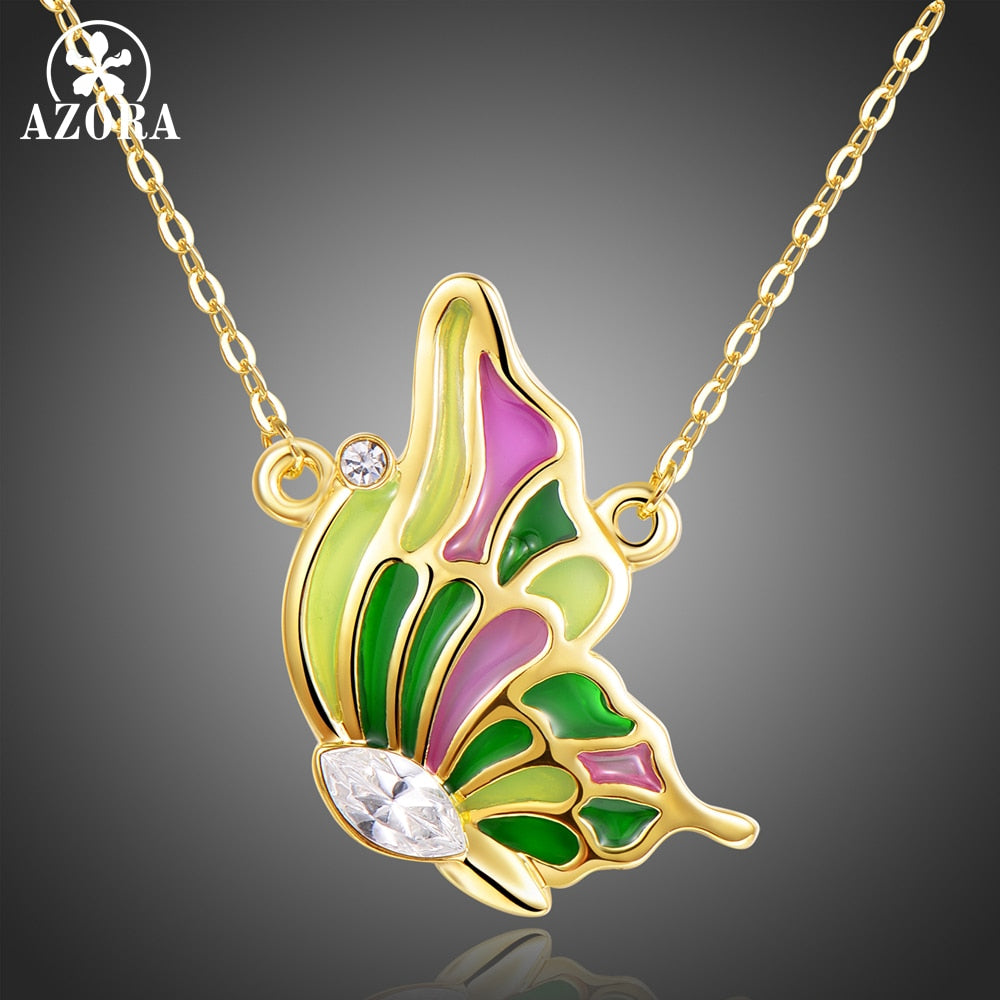 Delightful Multi-color Butterfly Necklace