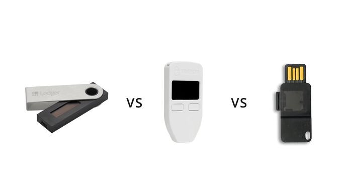 Which coins do the Ledger, TREZOR and KeepKey hardware wallets support?