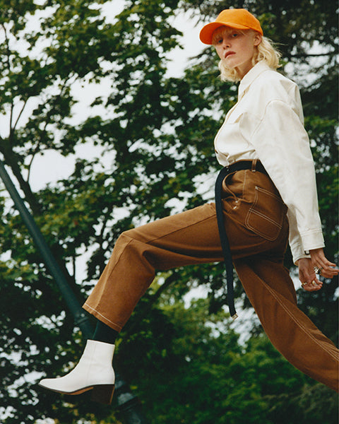 Eli in the Xenia boots from the Fall-Winter 2019 Clergerie collection