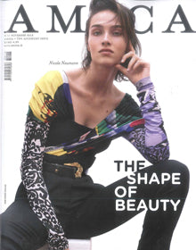 Cover of Amica Italy, November 2018, featuring the Roeloc derbies of the Fall - Winter 2018 Clergerie collection