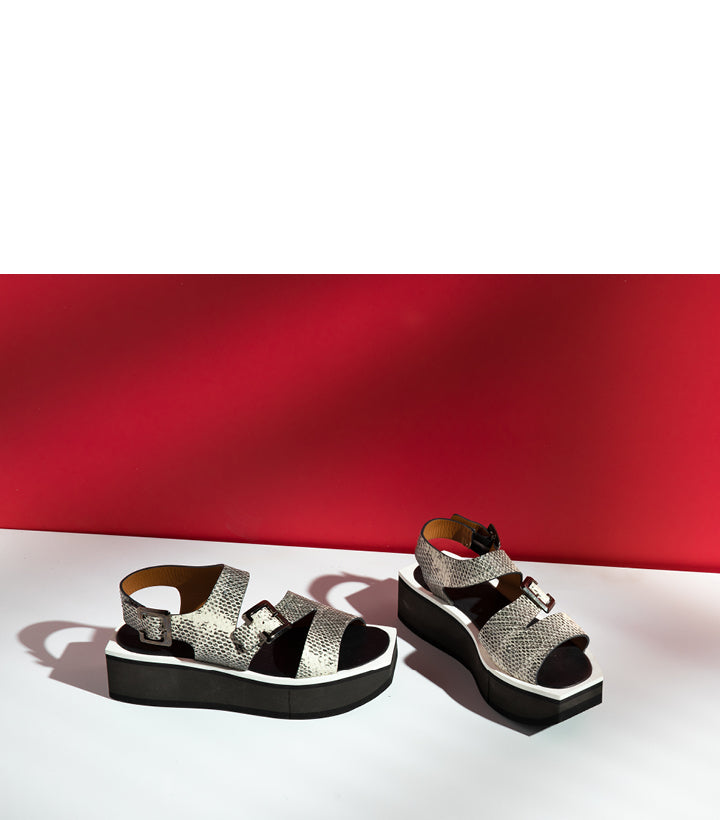 Ulysse sandals in animal print