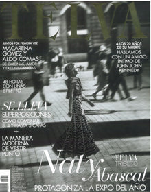 Cover of Telva Spain, November 2018, featuring the Celina boots of the Fall - Winter 2018 Clergerie collection