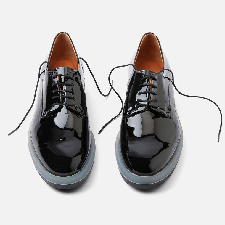 ROMA DERBIES, BLACK PATENT