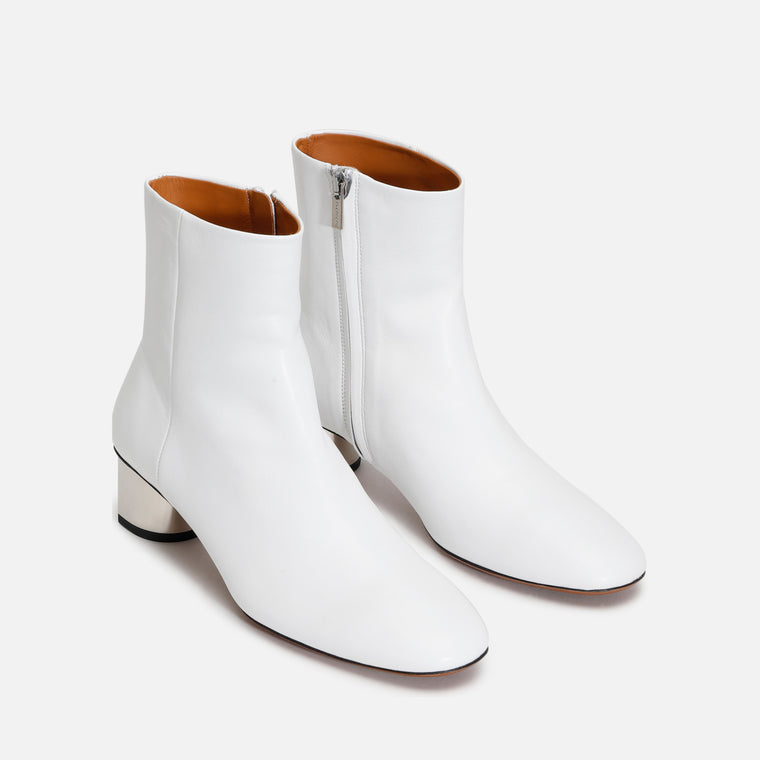 PAIGE ANKLE BOOTS, WHITE
