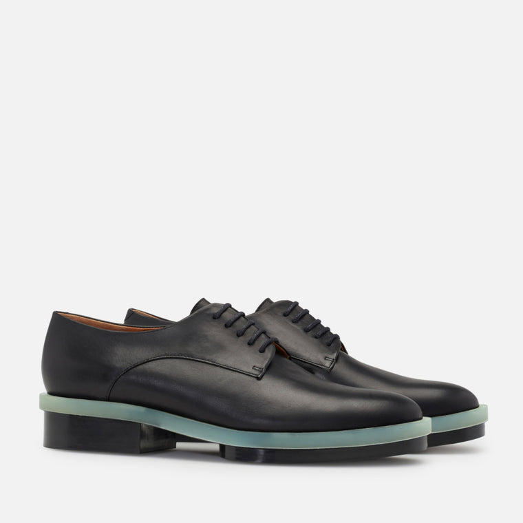 ROMA DERBIES, BLACK LAMB