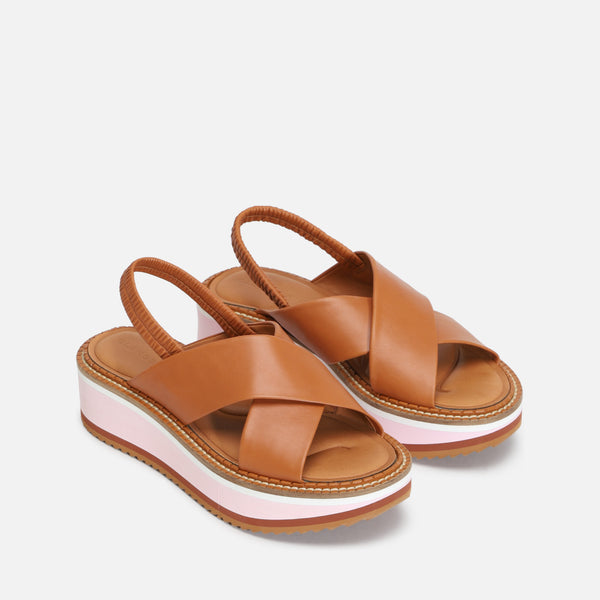 FREEDOM SANDALS, CAMEL