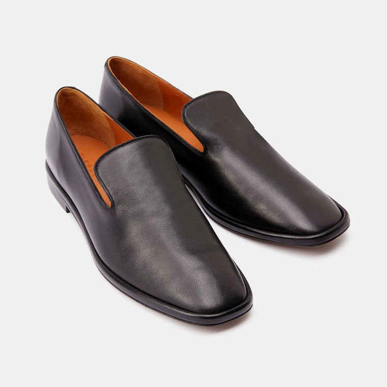 LOAFERS OLYMPIA, BLACK LAMB