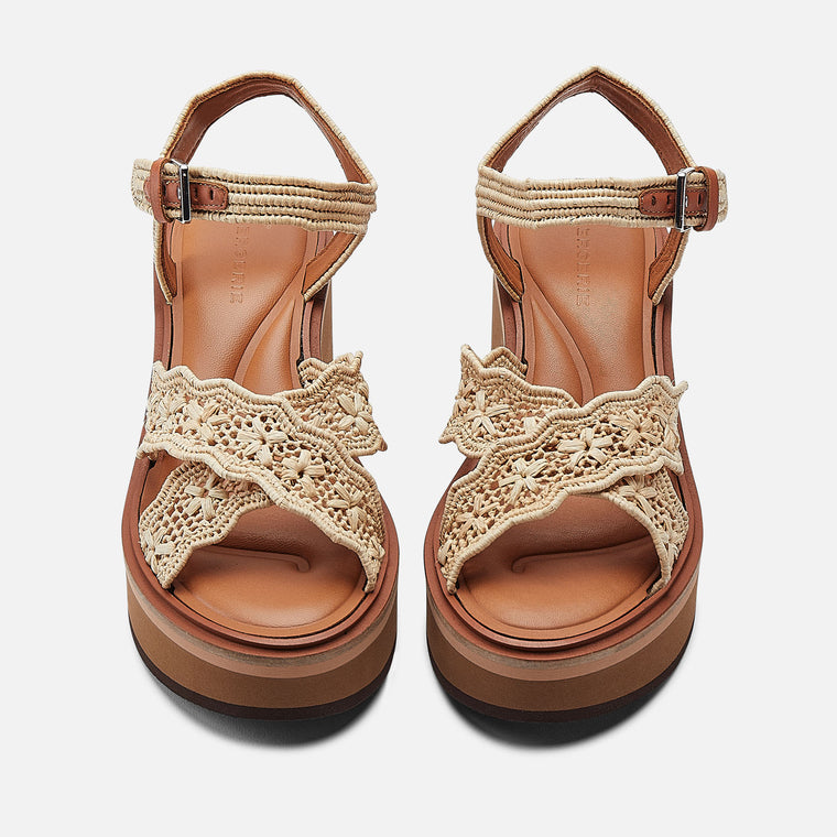SANDALS CHARLIZE, NATURAL