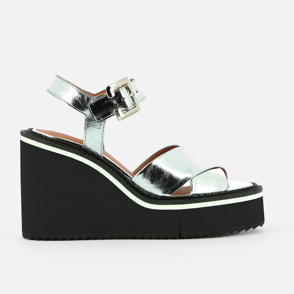 NAOMIE WEDGE SANDALS, SILVER