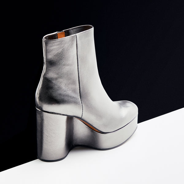 ANKLE BOOTS BELEN, SILVER