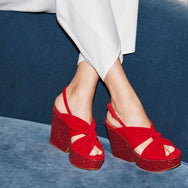 SANDALS DIXIESV, POPPY-RED