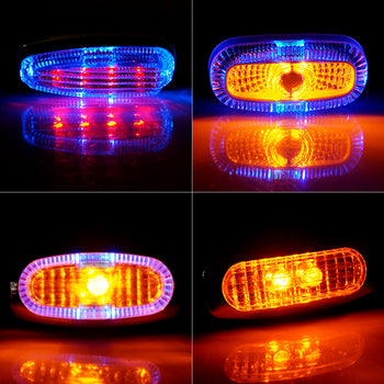 12V Side Marker Light Colorful Miniature T10 Wedge LED for Truck Trailer With Adhesive Tape - KoreaAutoAccessory