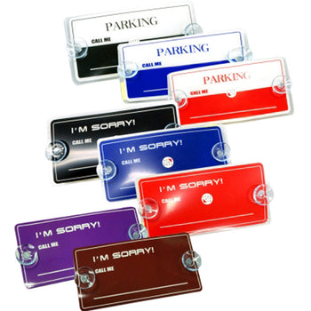 Air Freshener Tamporary Card Cell Phone Number Plate for Car Vehicle