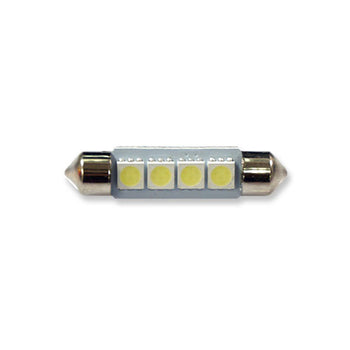 12V Car Light Bulbs Festoon Base 5050 LED 41mm 1.61in 4 SMD Interior Trunk Luggage - KoreaAutoAccessory