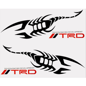 Car Decal Vinyl Sticker TRD Black