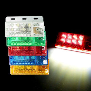 x2 24V Side Marker Light Lamp Colorful With Braket