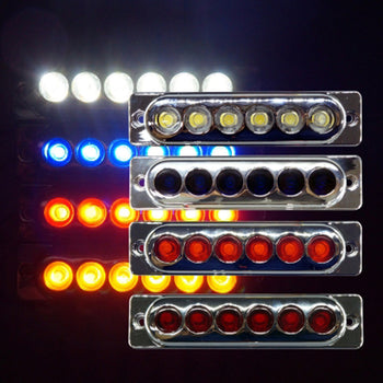 24V 6LED Side Marker Light Lamp Colorful - KoreaAutoAccessory