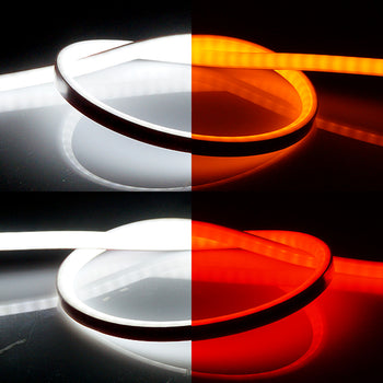 30cm 60cm 12V 2 Way Tube LED Flexible Surface light source White Red Yellow - KoreaAutoAccessory