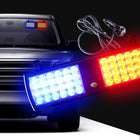 12V Blue-Red LED Car Emergency Warning Visor Strobe Flashing Light - KoreaAutoAccessory
