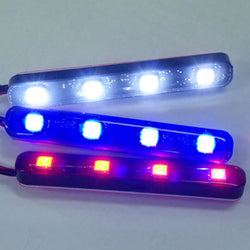 12V/24V 4 LED Strobe Flash Light Bar Built-in Controller - KoreaAutoAccessory