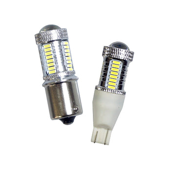 12V-24V Mprobeam Car LED Miniature Bulb T15 Wedge S25 Ba15S 33 SMD Backup Reverse Parking Light - KoreaAutoAccessory